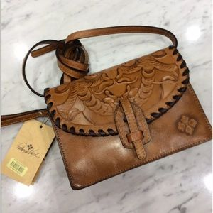 Patricia Nash Lanza Burnished Tooled  Leather Bag